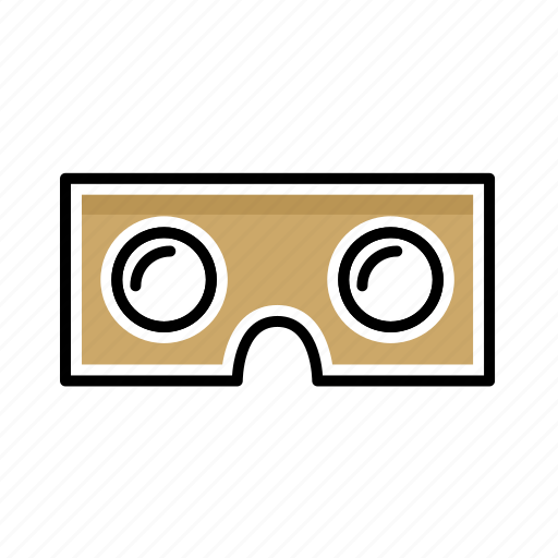 Cardboard, glasses, headset, reality, vr icon - Download on Iconfinder