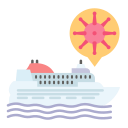 coronavirus, covid, cruise, outbreak, ship, sick, virus icon