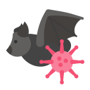 bacteria, bat, coronavirus, outbreak, pandemic, virus icon