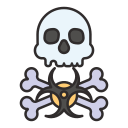 biohazard, dangerous, death, decease, hazard, toxic, virus icon