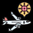 airplane, coronavirus, covid, outbreak, sick, spread, virus icon