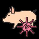 bacteria, coronavirus, outbreak, pandemic, pig, virus icon