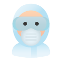 avatar, epi, googles, hospital, medical, people, safety icon
