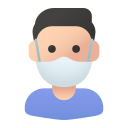 avatar, healthcare, male, mask, medical, user icon