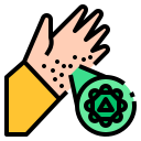 coxsackievirus, disease, hand, outbreak, paralysis, virus icon