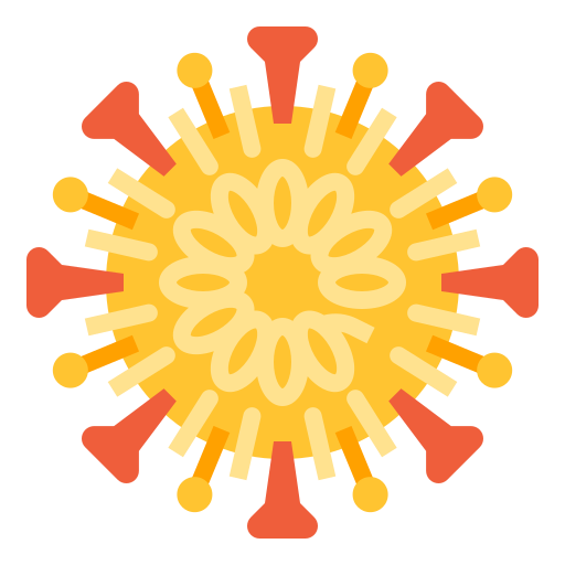 Virus Disease Science Structure Corona Bacteria Outbreak Icon