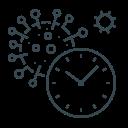 clock, coronavirus, covid, time, virus icon