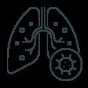 coronavirus, flu, lungs, pneumonia, virus icon
