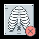 ray, rib, rib cage, virus, x, x-ray icon