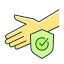 check mark, clean, hand, healthy, protection, safe, shield icon