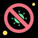 bacteria, diagnosis, forbidden, no, scientist, signaling icon