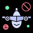 plane, prohibit, travel, warning icon