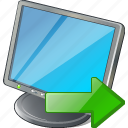 computer, desktop, display, export, monitor, screen icon