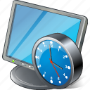 clock, computer, desktop, display, monitor, screen icon