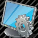 computer, desktop, display, monitor, screen, settings