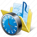 audio, clock, folder, media, music, my, songs icon