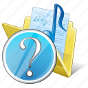 audio, folder, media, music, my, question, songs icon