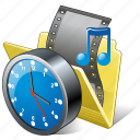 clock, film, folder, media, movie, my, video icon
