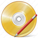 cd, compact, disc, disk, dvd, edit, storage icon