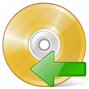 cd, compact, disc, disk, dvd, import, storage icon
