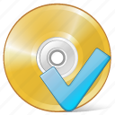 cd, compact, disc, disk, dvd, ok, storage icon
