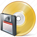 cd, compact, disc, disk, dvd, save, storage icon