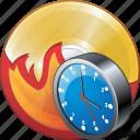 burn, cd, clock, compact, disc, disk, dvd