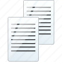 copy, documents, duplicate, files, paste icon