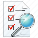 check, document, file, list, search, task, to do icon