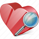 bookmark, favorites, heart, like, love, search icon