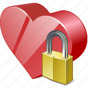 bookmark, favorites, heart, like, locked, love icon