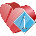 bookmark, favorites, heart, info, like, love icon