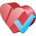 bookmark, favorites, heart, like, love, ok icon
