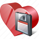 bookmark, favorites, guardar, heart, like, love, save icon