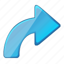 direction, forward, redo, rotate icon