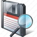 backup, data, disk, download, file, floppy, save, search icon