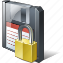 backup, data, disk, download, file, floppy, locked, save icon