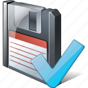 backup, data, disk, download, file, floppy, ok, save icon
