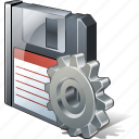 backup, data, disk, download, file, floppy, guardar, save, settings icon