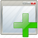 add, app, application, interface, window icon