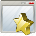 app, application, favorite, interface, window icon