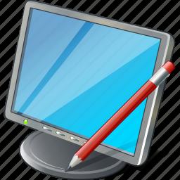computer, desktop, display, edit, monitor, screen icon