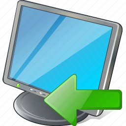 computer, desktop, display, import, monitor, screen icon