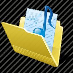 audio, folder, media, music, my, songs icon