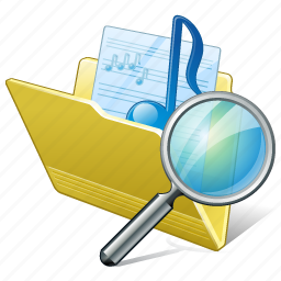 audio, folder, media, music, my, search, songs icon