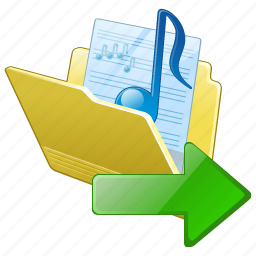 audio, export, folder, media, music, my, songs icon