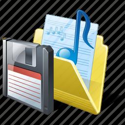 audio, folder, guardar, media, music, my, save, songs icon