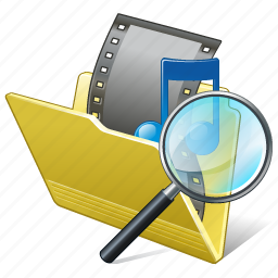 film, folder, media, movie, my, search2, video icon