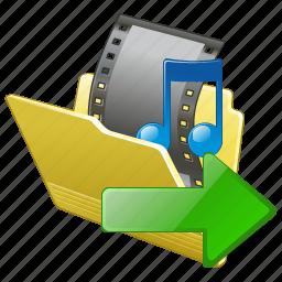 export, film, folder, media, movie, my, video icon