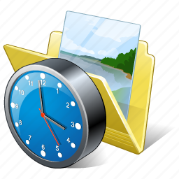 clock, folder, gallery, images, media, my, pictures icon